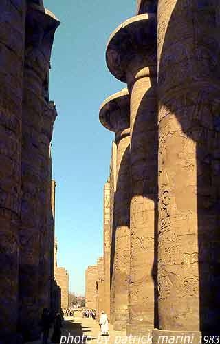 Karnak, sala ipostila di Setty I e Ramses II