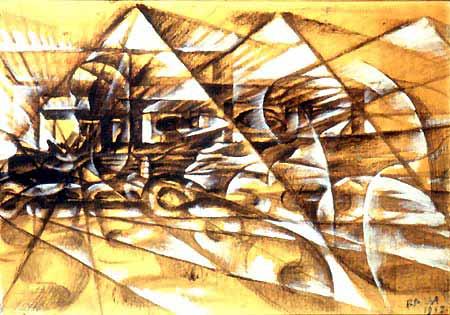 Giacomo Balla, Velocità d'automobile, 1913